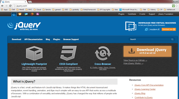 Download jQuery Library