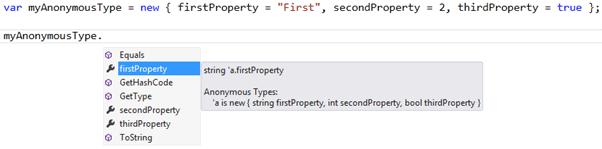 C# Anonymous Types