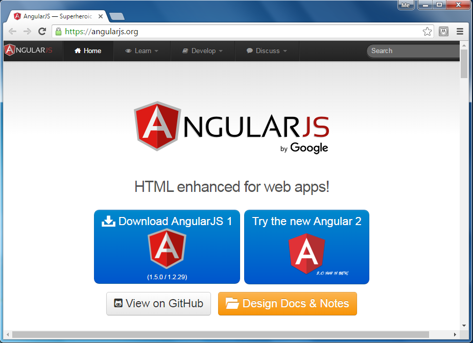 AngularJS Official Website