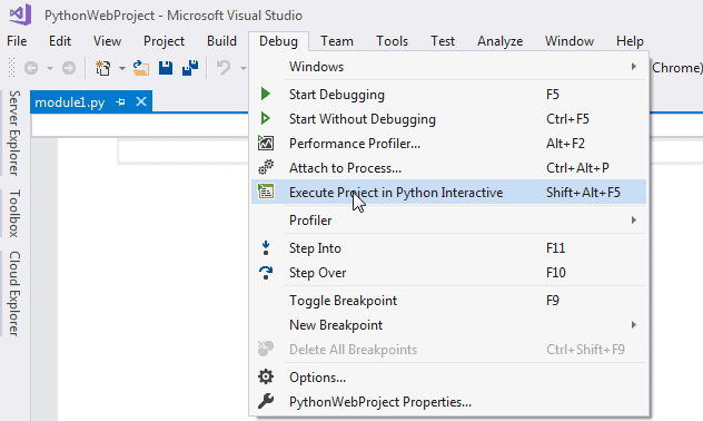 Python in Visual Studio